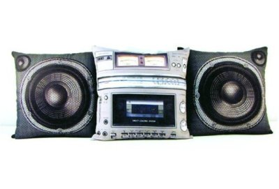 Pump up the volume with these boombox pillows!
