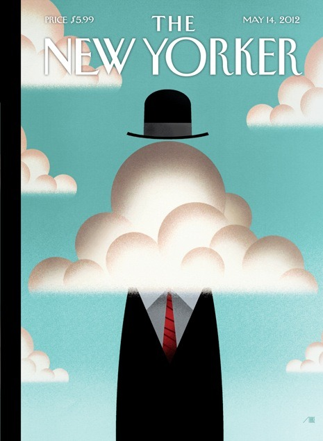 "La portada de esta semana de The New Yorker: ""Up in the clouds"" Vía 