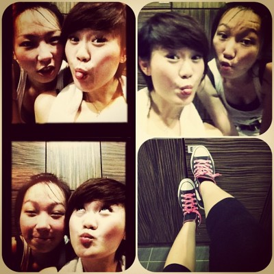 after. #chinese #asian #girls #look #funny #face #workout #instamood #random #camwhore #monday #allstar #sneakers #pink #friendship #girlfriend  (Taken with instagram)