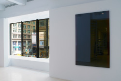 thepacegallery:  Robert Irwin: Dotting the i´s & Crossing the t´s, The Pace Gallery, 32 East 57th Street, New York City.© Robert Irwin / Artists Rights Society (ARS), New York. Photo by Kerry Ryan McFate / Courtesy The Pace Gallery. Dotting the i's & Crossing the t's: Part I features a new site-conditioned installation that incorporates the gallery windows overlooking 57th Street, altering the viewers' orientation. Knowing and seeing are challenged in this work. (via Exhibition of new work by Robert Irwin on view at the Pace Gallery)  I am still beating myself up over the fact that I haven't seen this exhibition in person. I've had friends who have seen the show and are still raving about Robert Irwin's work and the exhibition!