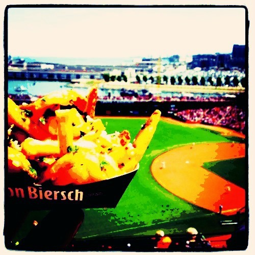 Nothing like baseball and garlic fries …