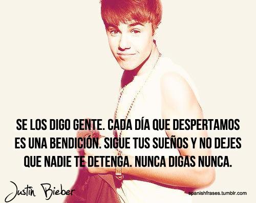 Las mejores frases de Justin Bieber