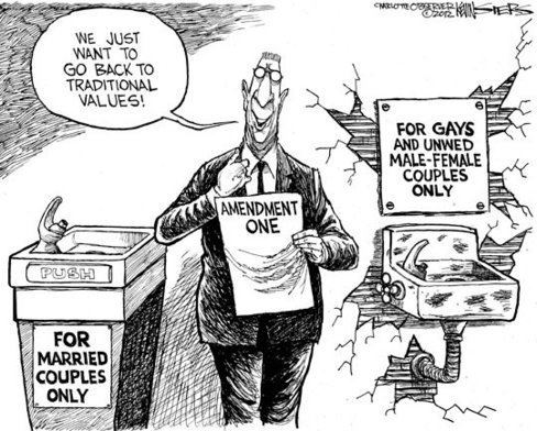 voteagainstamendmentone:  #NC #VoteAgainst #Amendment1 Political Cartoon