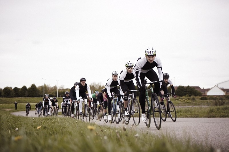 angusung:  Awesome photo of My boys Rudy and Dave pedalling hard up front during The Hunt, with their 5th floor team mate Biggs being. Sorry to hear both Dave and Biggs fell during the race. Looking forward to hearing the story of Rudy having to bunny hop a fallen ride right in front of him.  Images by Infamies