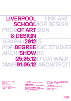architecture-ljmu:  Please join us for our graduate show opening night 5pm till late Thursday 24 May.  A great opportunity to talk to our graduates about their inspiring project work.