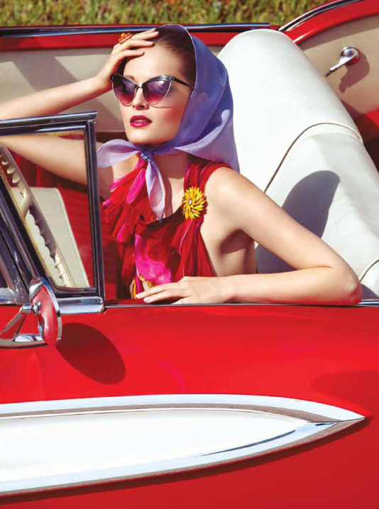 "Olga Maliouk in ""50s Scent"" Photographed by Gabor Jurina & Styled by Susie Sheffman for Fashion Canada"