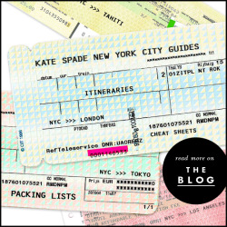plan an adventure (or two!): introducing the fathom for kate spade new york city guides—-five colorfully-curated travel guides packed with tips on where to go, eat, sleep and play in a few of our favorite locales.