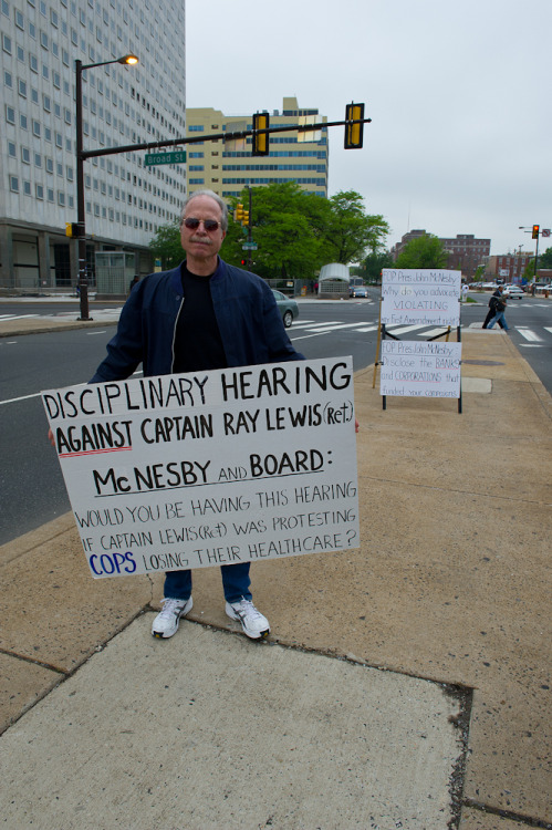 thepoliticalnotebook:  Occupy Philadelphia. Last week, Capt. Ray Lewis (Ret.) protested his preliminary hearing for wearing his uniform while protesting with Occupiers. You remember Captain Lewis… he's the retired police officer in these photographs, arrested in full uniform in lower Manhattan last November. The photo was taken and submitted by Michael Albany, whose professional site is here. He can be followed on Tumblr, too! You can view the rest of The Political Notebook's project to gather photography, documentation and experiences from the OWS movements nationwide. I have also compiled an archive of all my posted submissions to this project on a single Pinterest board for your viewing convenience. Check out the Call for Submissions page and email your photos to me at torierosedeghett@gmail.com!