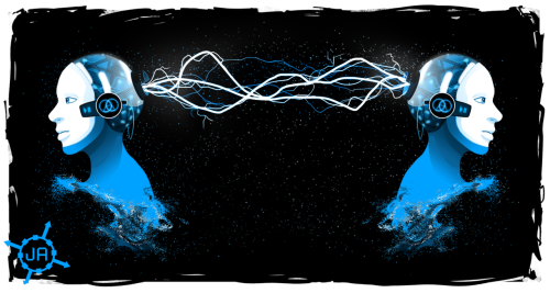 ekqo:  All three Glitch Mob t-shirt illustrations. Of the three, the Warrior Concerto is the one I like least, and Two Points is the one I like best (and it's now my wallpaper at home). When I work up the nerve, I'll send them to the Glitch Mob guys themselves. Might as well, right? I gotta admit, this is some of the best work I've done in quite a while.