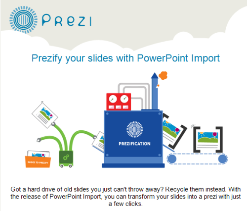 You can now import your PowerPoint slides into Prezi, hurray!