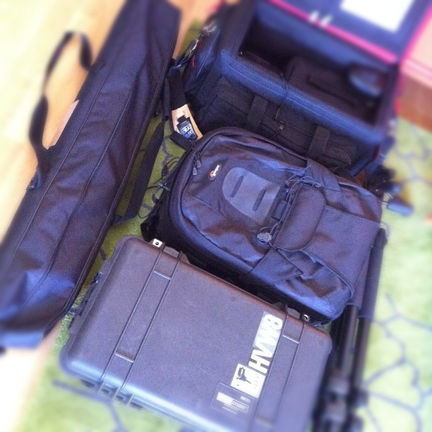 "The ""portable"" kit I'll be using today. #photography  (Taken with instagram)"