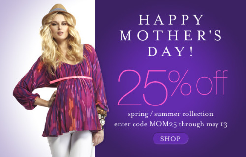 The Mother's Day Sale is on at moreofmematernity.com!