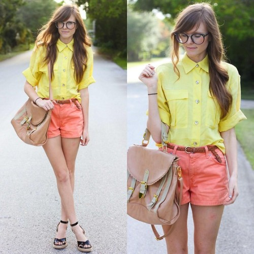 lemon + orange. (by Steffy Kuncman) Perfect bright spring outfit!