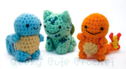 Original pokemon crochet set. (Can we all agree these are the cutest things ever?)