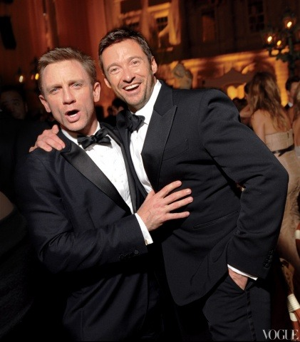 vogue:  NOSTALGIA: Daniel Craig and Hugh Jackman at the 2010 Costume Institute Gala  My man.
