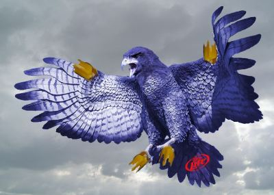 Meet the Millerhawk. Fight him to the death to feast on the Miller Lite inside.  Following the Miller Punch Top Can, there are many new ways to put Miller Lite in your gullet. Nick Rallo at the Dallas Observer invited me to help uncover them. Click here to see them all!