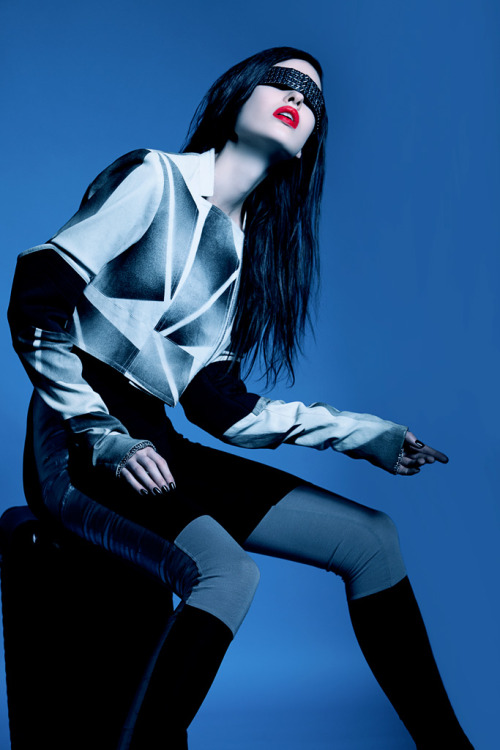 "tomaas:   ""Snowblue"" By TOMAAS with Snow @qmodels #fashion # beauty #editorial"