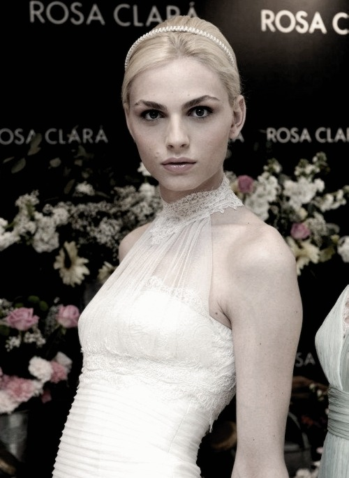 Andrej Pejic  - Rosa Clara Barcelona Bridal Week for 2012