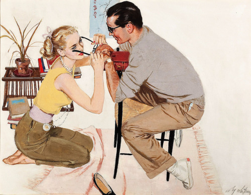theniftyfifties:  Illustration by Coby Whitmore, 1950s.