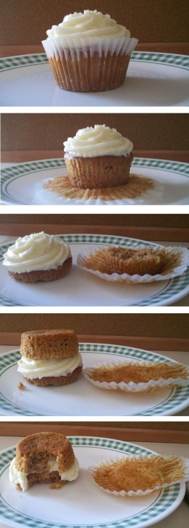 How to properly eat a cupcake