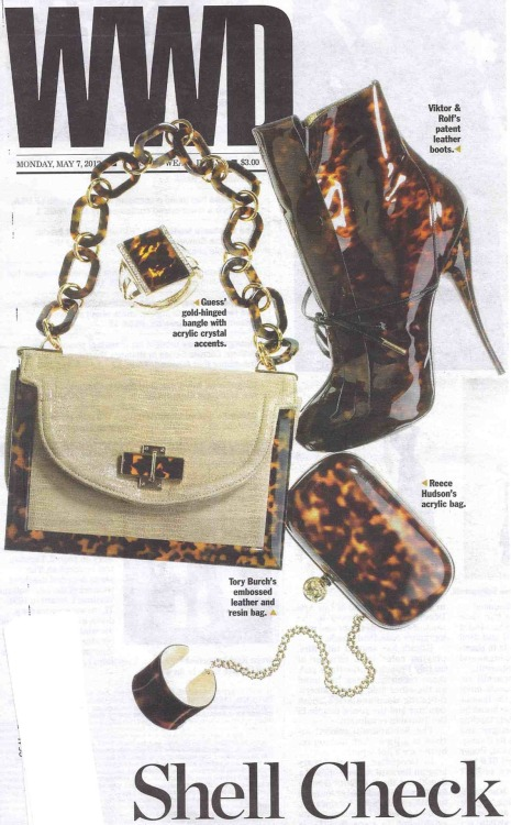 No.14 in Tortoise featured on the cover of WWD / May 7, 2012