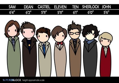 Yes! I'm the exact same height as Cas and Eleven!