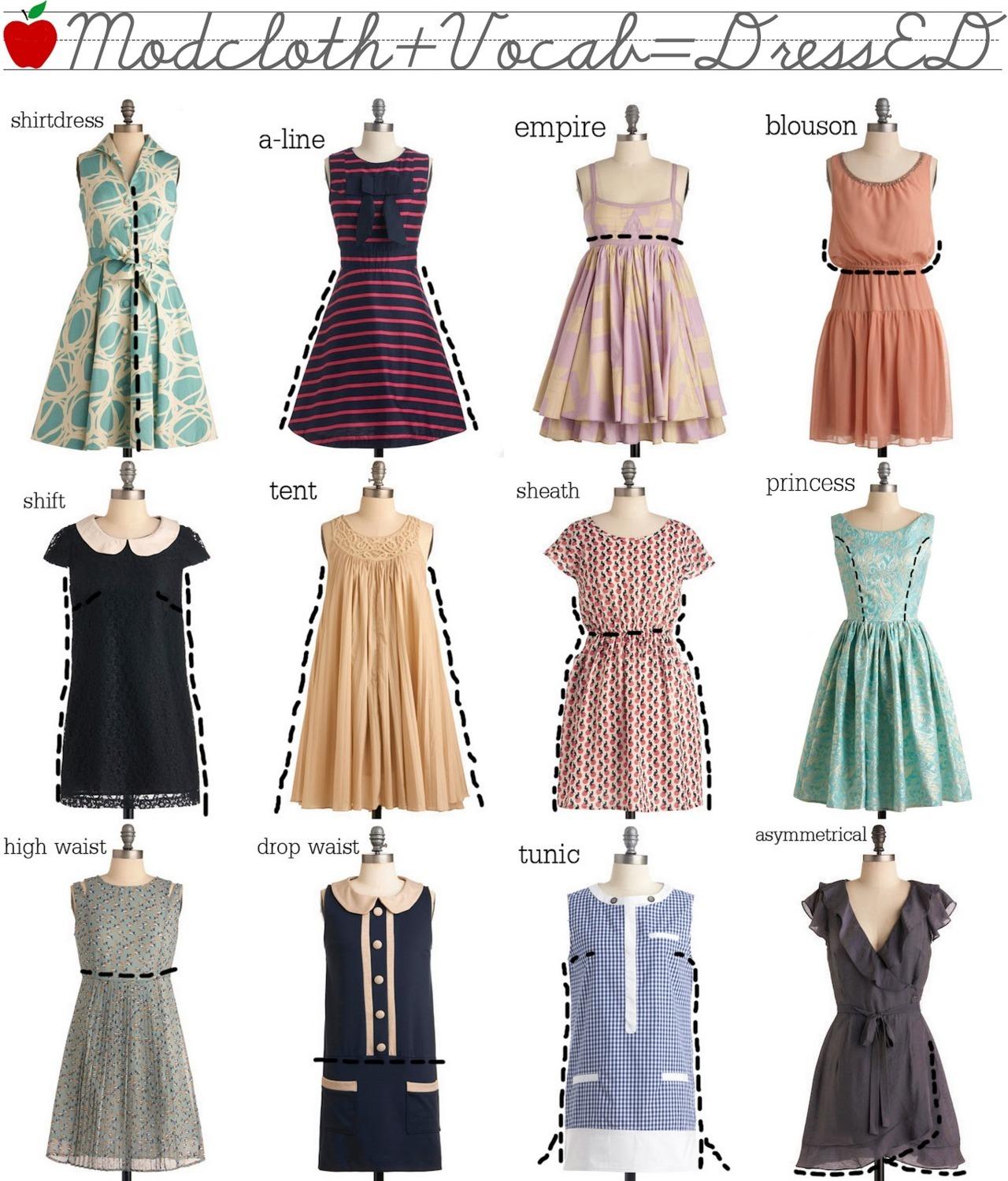 Платья разные фасоны