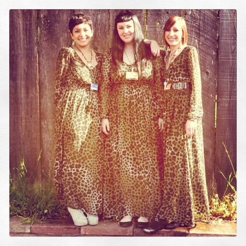 Tara, Quinn and Linda match up at Buffalo Exchange San Francisco (Haight st)