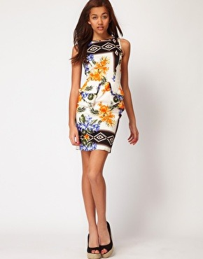 Fierce florals with this peplum dress from ASOS