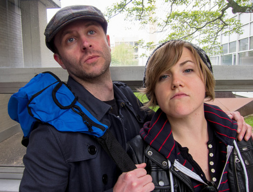laughingsquid:  Chris Hardwick and Hannah Hart at ROFLCon III