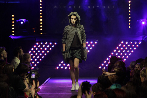 First photo from NighwalkSS2012 at The Arches where my friend Nicole was showing off her menswear collection. I'll post more from the show when I get a chance to look at them.