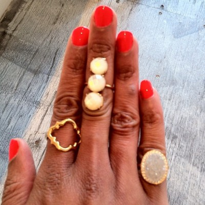 All #musthave #rings from #jewelry designer Kirakira (Taken with Instagram at Dekalb Market)