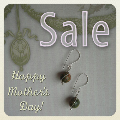 Less than 1 week left! Use coupon code MOTHERSDAY20 for 20% off your next order of handcrafted jewelry, valid now through May 13, 2012 at 11:59 p.m. EST.