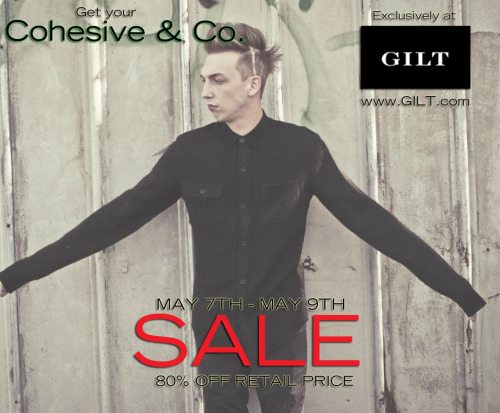 cohesiveandco:  Feel like shopping?? SAVE UP TO 80% FROM ORIGINAL RETAIL PRICE ON ALL COHESIVE & CO.  MERCHANDISE EXCLUSIVE AT GILT.