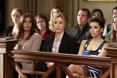 "huffposttv:  Brace yourselves: the ""Desperate Housewives"" series finale is this Sunday, May 13. Yes, the above is a photo from it. Details on the two-hour Wisteria Lane send-off here."
