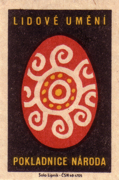 …..folk art-national /treasure,1963. czechoslovakia. matchbox label. via Flickr  oliver.tomas…..