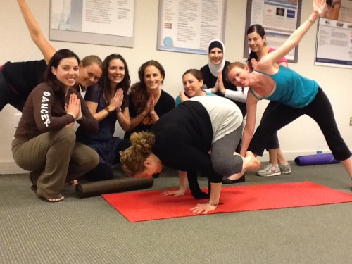 nomnomnamaste:  Had a yoga class IN my office today. So that was kind of cute.