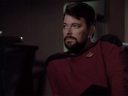 """Nobody said life was safe."" - William Riker"