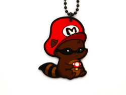Raccoon Mario Necklace