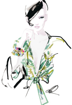 neimanmarcus:  Sachin + Babi bracelets. Illustration by David Downton.