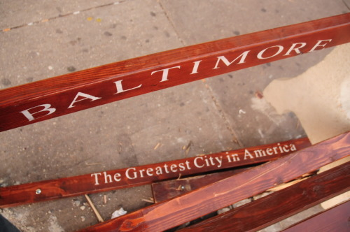 freezetimebmore:  bench  #baltimore #greatest city #broken