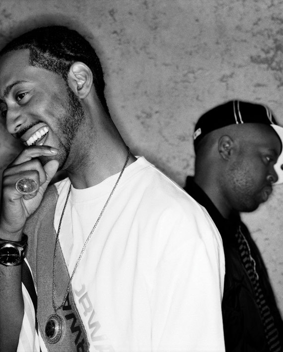 "Madlib and J Dilla by Joao Canziai, Los Angeles, April 2004. ""…the night of the Madvillain & Jaylib show in Los Angeles at the Henry Fonda Theater.  It was the first night Madlib & J Dilla performed together."" - Jeff Jank, Stones Throw"