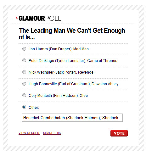 ultravi0letten:  I went and voted: http://www.glamour.com/entertainment/blogs/obsessed/2012/05/introducing-the-obsessed-tv-aw.html?mbid=social_fb_fanpage