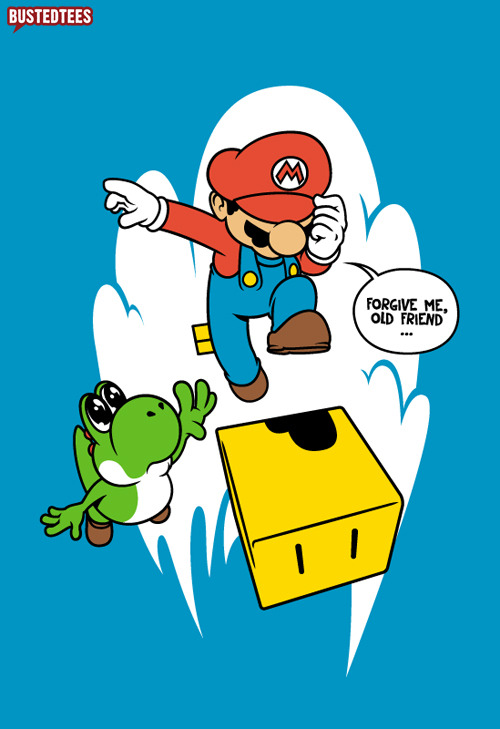 bustedtees:  There's no mushroom for friendship :((BETRAYAL, now available @ FallenBuddies.com)