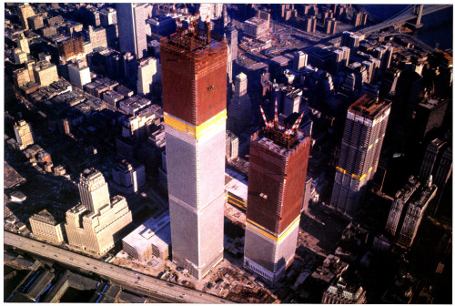 archimaps:  The World Trade Center under construction around Christmas 1970, New York
