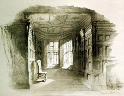 Pictured above, the drawing room of Haddon Hall, Derbyshire, in an 1842 lithograph by Douglas Morison (1810-1846) A poem by Robert Browning (born 7 May, 1812; died 12 December, 1889):  Love in a Life Room after room,I hunt the house throughWe inhabit together.Heart, fear nothing, for, heart, thou shalt find her,Next time, herself!—not the trouble behind herLeft in the curtain, the couch's perfume!As she brushed it, the cornice-wreath blossomed anew,— Yon looking-glass gleamed at the wave of her feather.Yet the day wears,And door succeeds door;I try the fresh fortune— Range the wide house from the wing to the centre.Still the same chance! she goes out as I enter.Spend my whole day in the quest,—who cares?But 'tis twilight, you see,—with such suites to explore,Such closets to search, such alcoves to importune!  (1855)