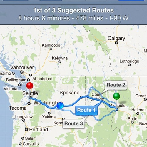 This was our drive today after 3 hours of sleep and waking up at 7 to get our trailer fixed in Montana. I can't believe we're gonna make the show tonight! #starsalligned #beastmode #thankful #problemsolvers (Taken with instagram)