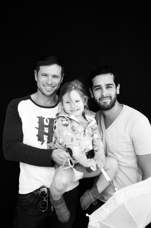 Look at this gorgeous family! Steve, Jorge and Lexi from Denver. :) *swoon*