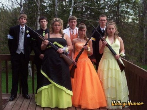 You never know what's going to happen at prom. Zombie apocalypse on the dance floor? Better safe than sorry.