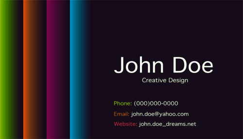 first business card design.